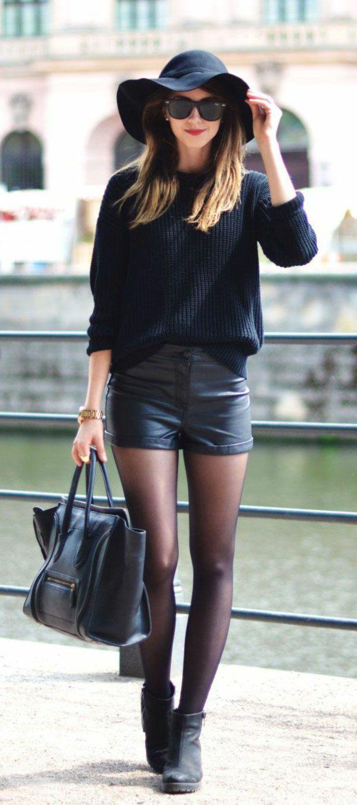 Comment porter la capeline noire - 65 idées de tenue originale ... e9e0ad6950c