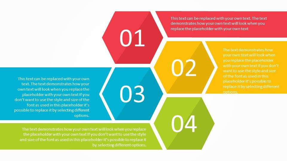 Free hexagon list powerpoint template that can be used as