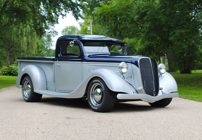 Car Of The Week 1937 Ford Pickup Street Rod If You Ve Got An Old Car You Love We Want To Hear About It Email Us At Oldcars Aim Street Rods Ford