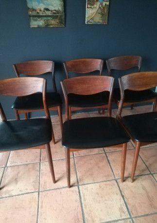 6 chaises scandinaves vintage fabrication danoise 1960 les vieilles choses