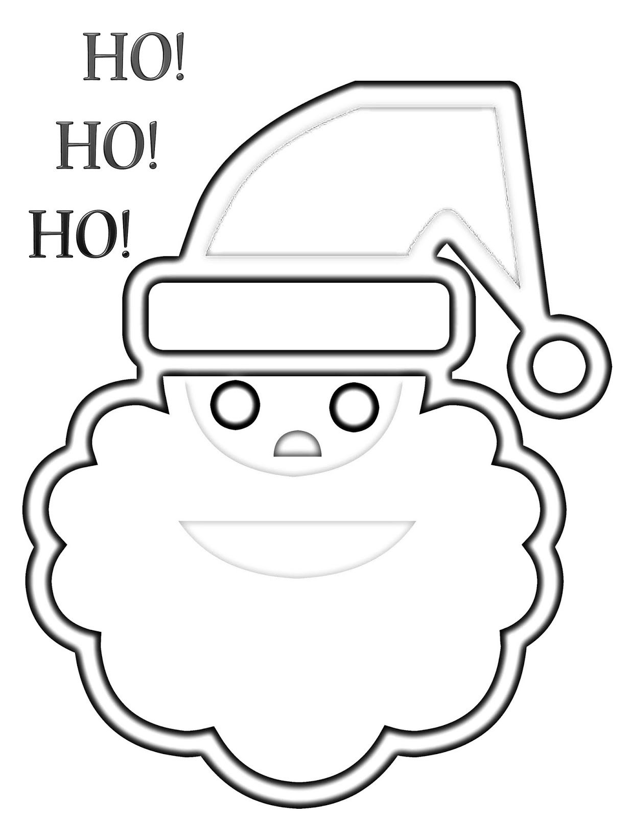 Christmas Coloring Page: Santa | CJO Photo: Christmas | Pinterest ...