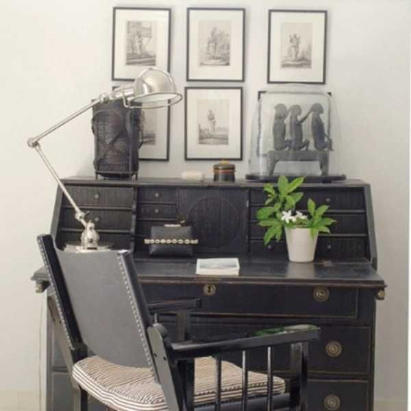 30 Modern Home Office Decor Ideas In Vintage Style Vintage Home Offices Modern Home Office Furniture Home Office Decor