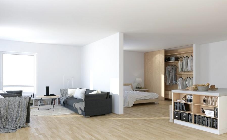 Open Plan Apartment Interior Design Ideas scandinavian studio apartment - open plan living dining in