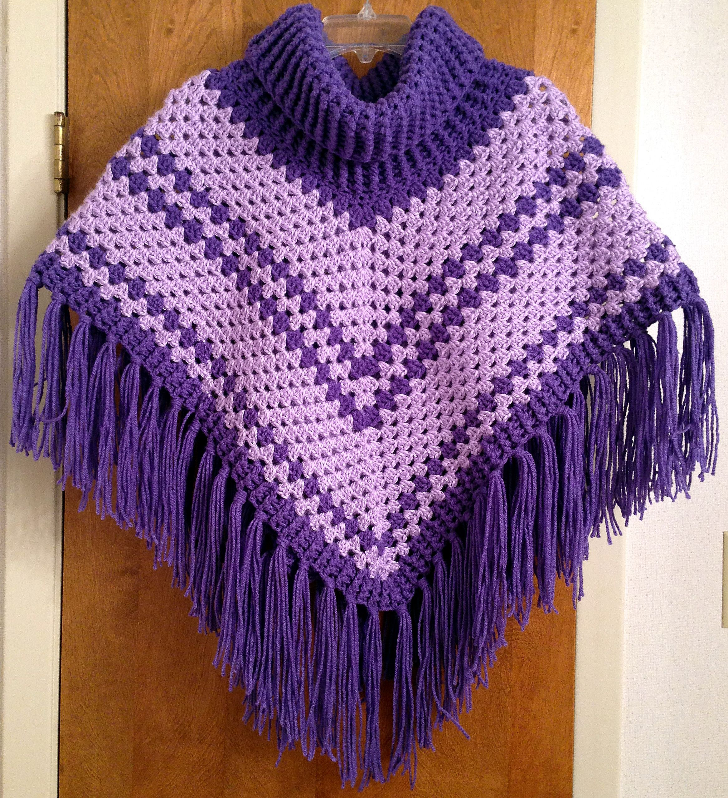 Cowl Neck poncho - Simply Crochet Issue #25 Crocheted by me: Juliana ...