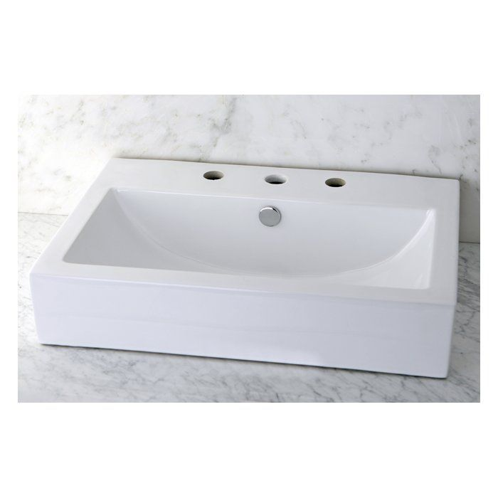 Century Ceramic Rectangular Vessel Bathroom Sink Bathroom Sink Sink Console Sink
