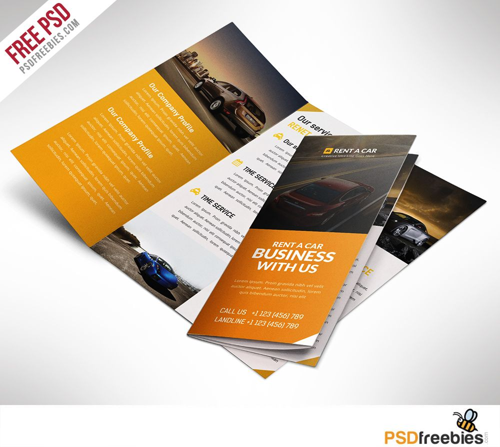 Car Dealer And Services Trifold Brochure Free PSD Brochures - Tri fold brochure free template