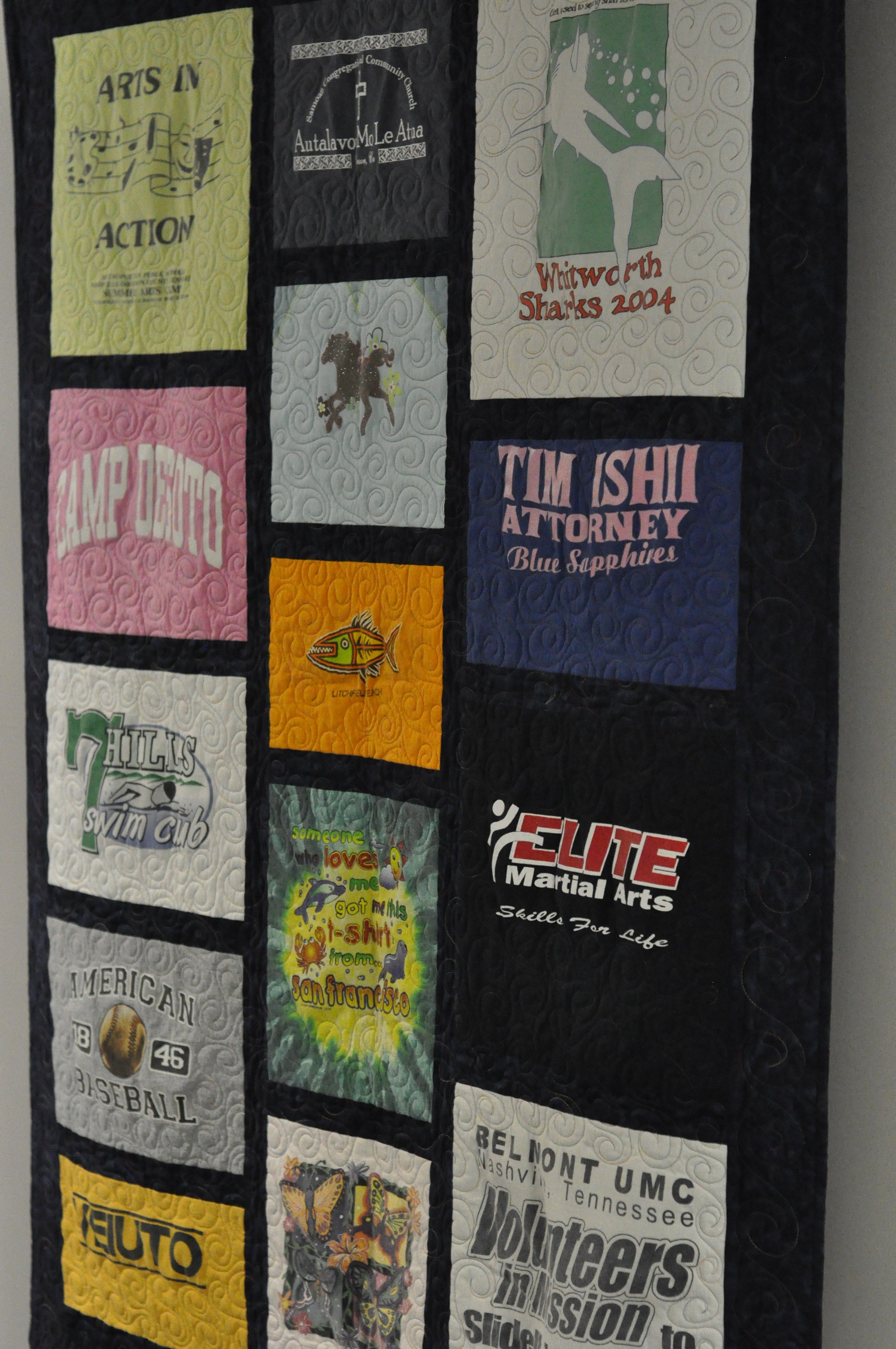 The TShirt Quilt Youth Room Idea Youth Group Ideas