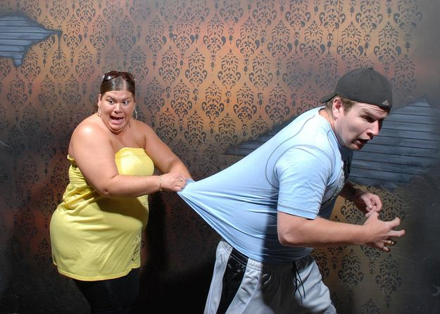 Haunted house with hidden camera...These photos had me laughing out loud!!!