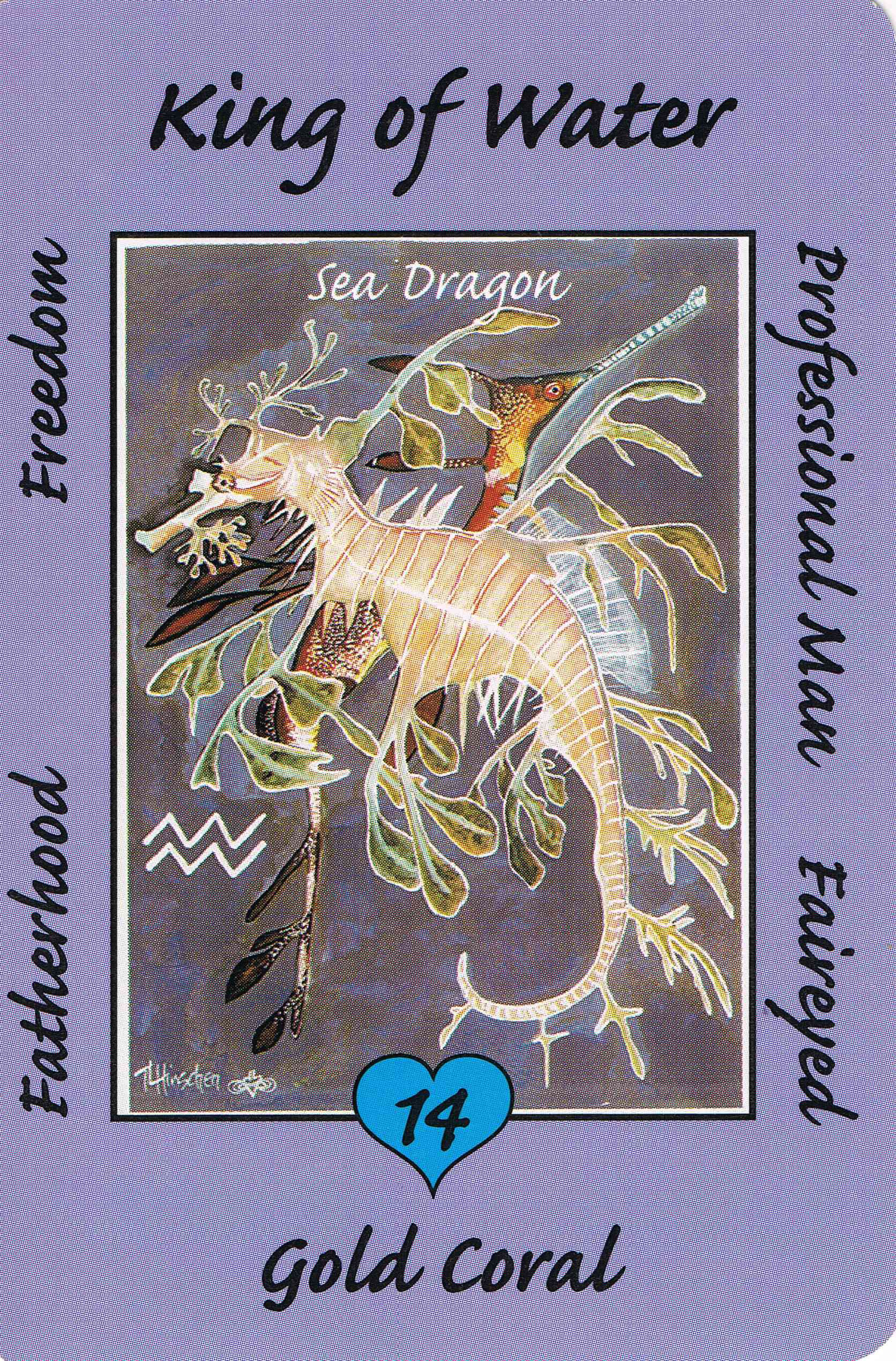 14 king water sea dragon australian animal tarot deck