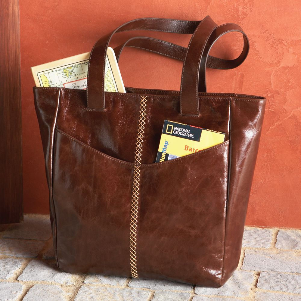 National Geographic Lightweight Leather Travel Tote | National ...