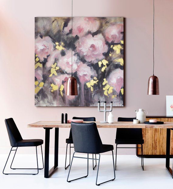 """36x36"""" Extra Large Original Wall Art Large Pink Abstract"""