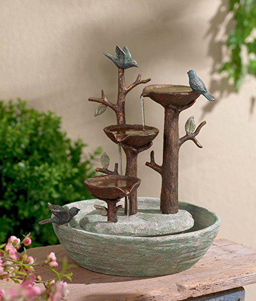 Bird Nest Table Top Fountain Bird Fountain Diy Garden