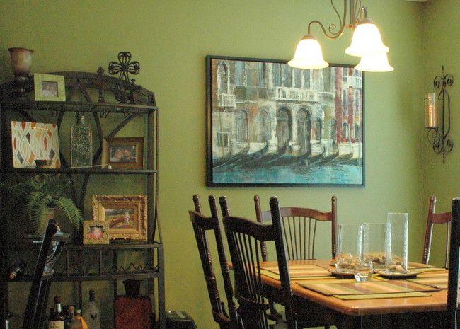 Tansy Green Benjamin Moore Dining RoomGreen