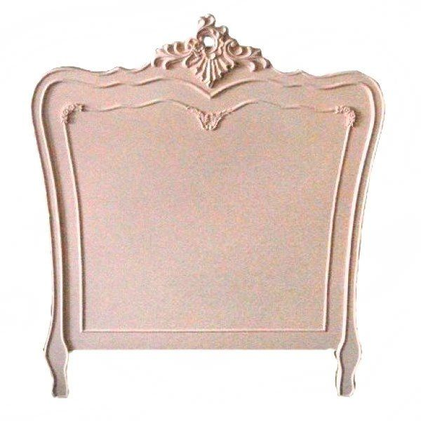 French Ornate Carved Pink Single Headboard