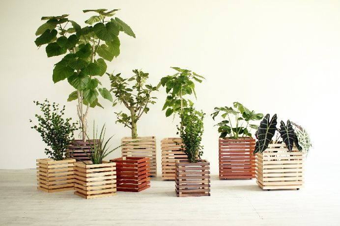Holm230オリジナル鉢カバー プランターカバー 木製プランター 植木鉢
