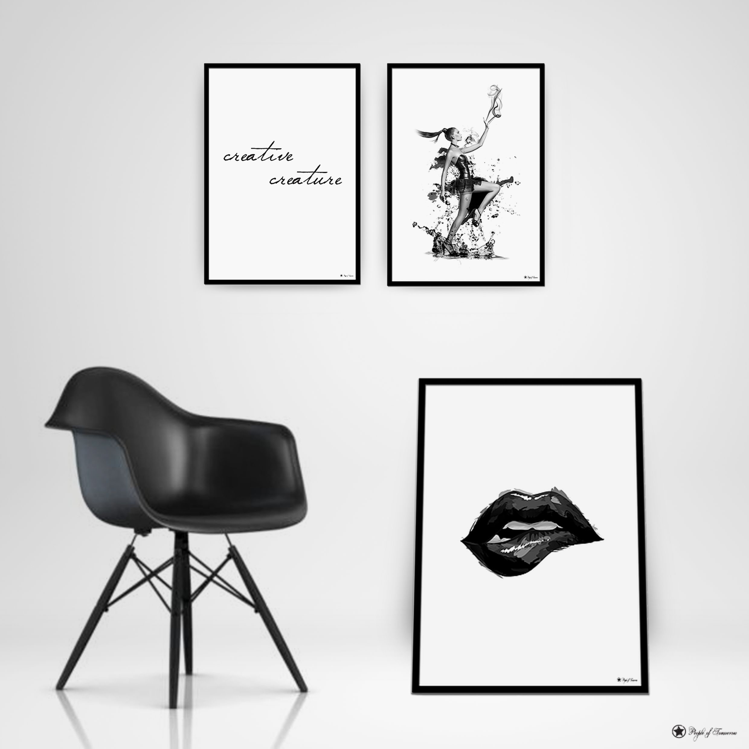 Designing creative posters for your home. www.peopleoftomorrow.no  #poster #scandinavian #interior #design
