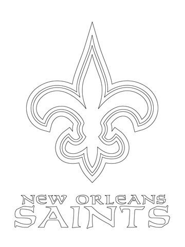New Orleans Saints Logo Coloring Page From Nfl Category