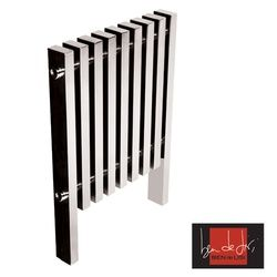 Ben De Lisi Kolonna Square 800 x 975 Polished Stainless Steel Radiator is part of the Ben de Lisi towel warmer range by Abacus Direct at Plumbarena.    Ben De Lisi is one of the worlds most famous fashion designers. In 2001 Ben de lisi turned his fabulos eye for design to the home interior market. The Ben de lisi range of towel wamers and radiators by Abacus direct will add a massive wow factor to any bathroom.