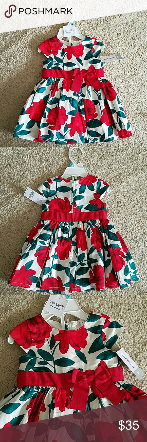 Christmas dress babies r us - Carter S Baby Girl Holiday Dress Nwt Nwt Carter S Baby Girl Floral Christmas Dress Absolutely Stunning