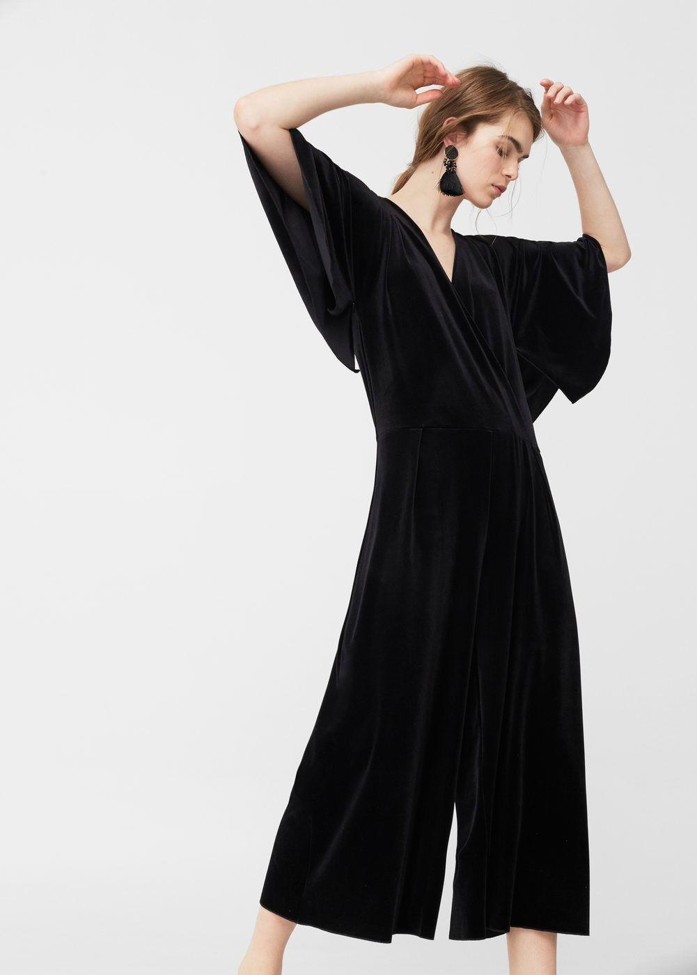 101a01d9e5b Palazzo velvet jumpsuit - Women