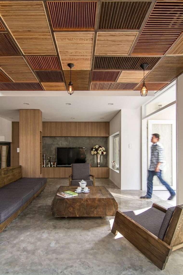 Faux plafond suspendu une solution moderne et pratique for Faire un faux plafond en bois