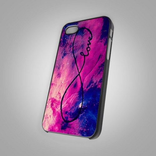 Galaxy INFINITE LOVE For IPhone 4 or 4S Black Case Cover