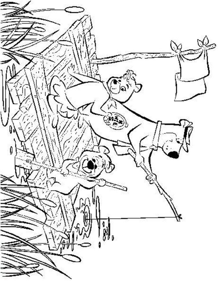 Yogi Bear and Boo Boo Coloring Page | Coloring pages and Printables ...