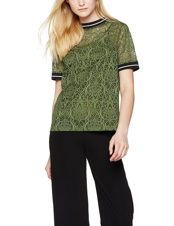 FIND Women's Lace T-Shirt: Amazon.co.uk: Clothing