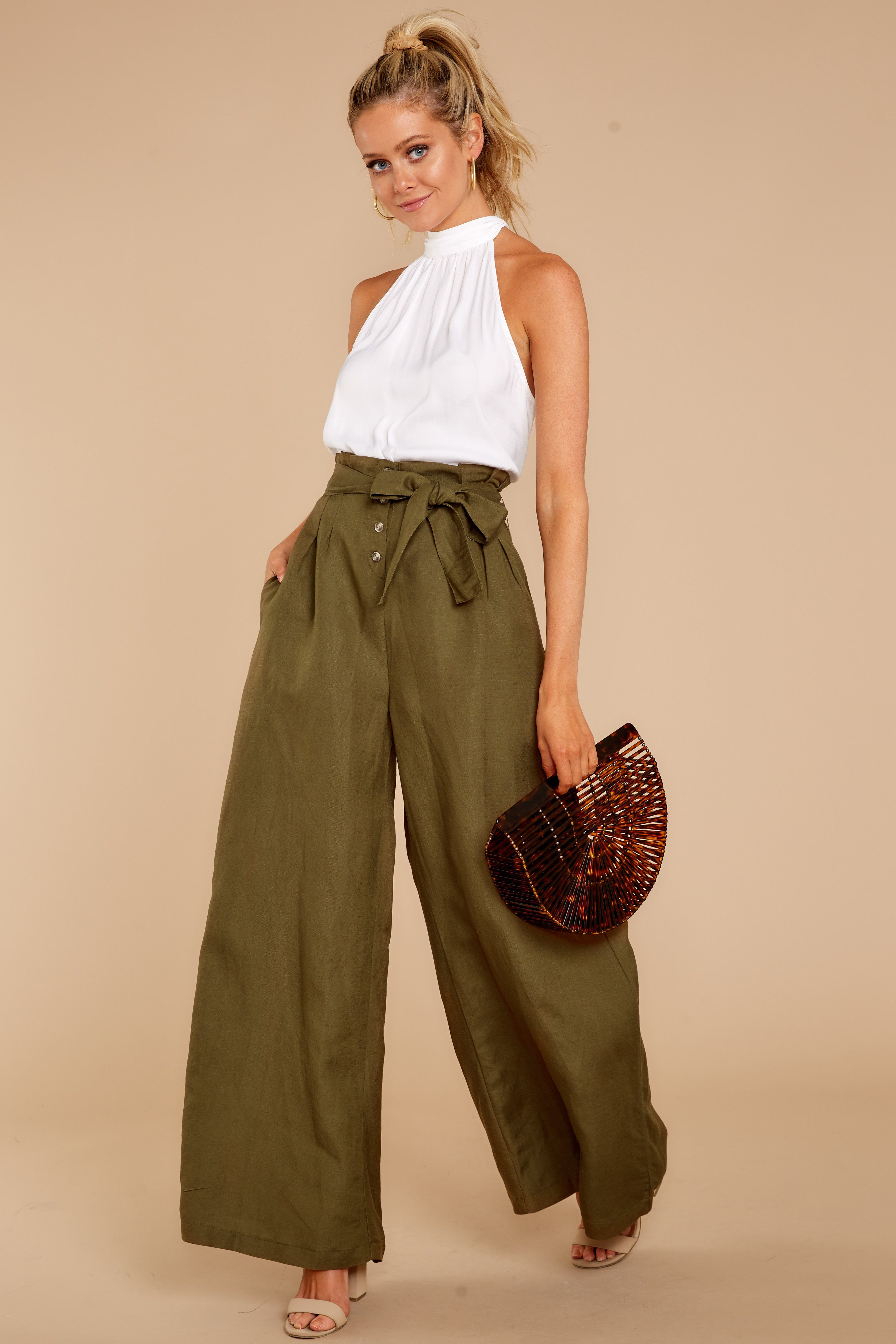 Stylish Olive Green Pants Chic Wide Leg Pants Pants 48 00 Red Dress Boutique Wide Leg Pants Outfit Summer Summer Pants Outfits Wide Leg Pants Outfit [ 5024 x 3349 Pixel ]