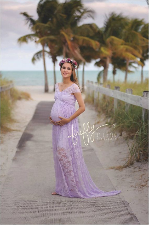 Custom Order -Infinity Lace Maternity Gown, Photo Prop Ivory ...
