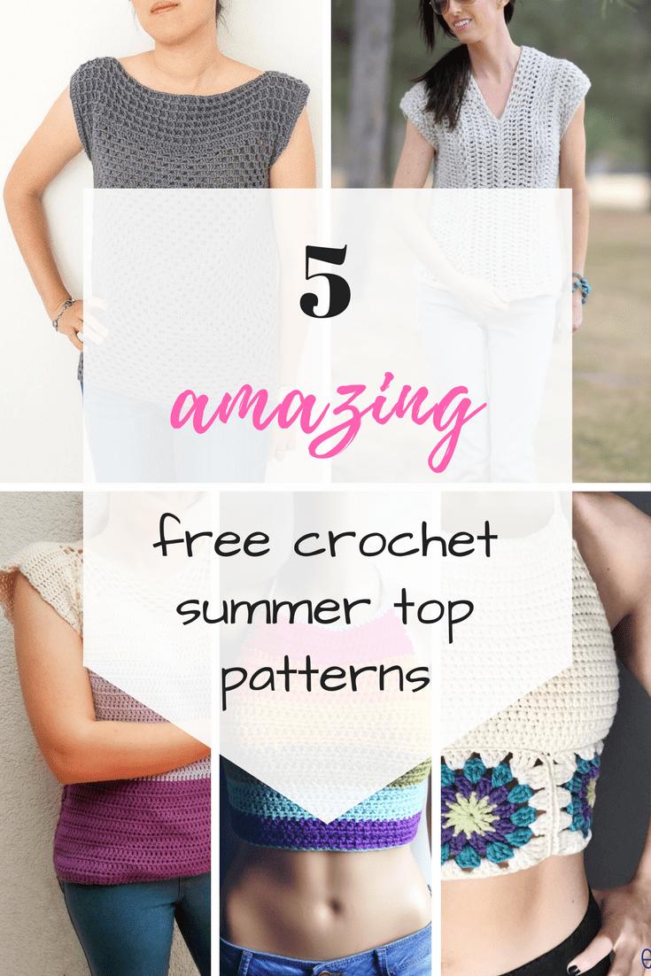 5 amazing free crochet summer tops patterns | Crochet summer tops ...