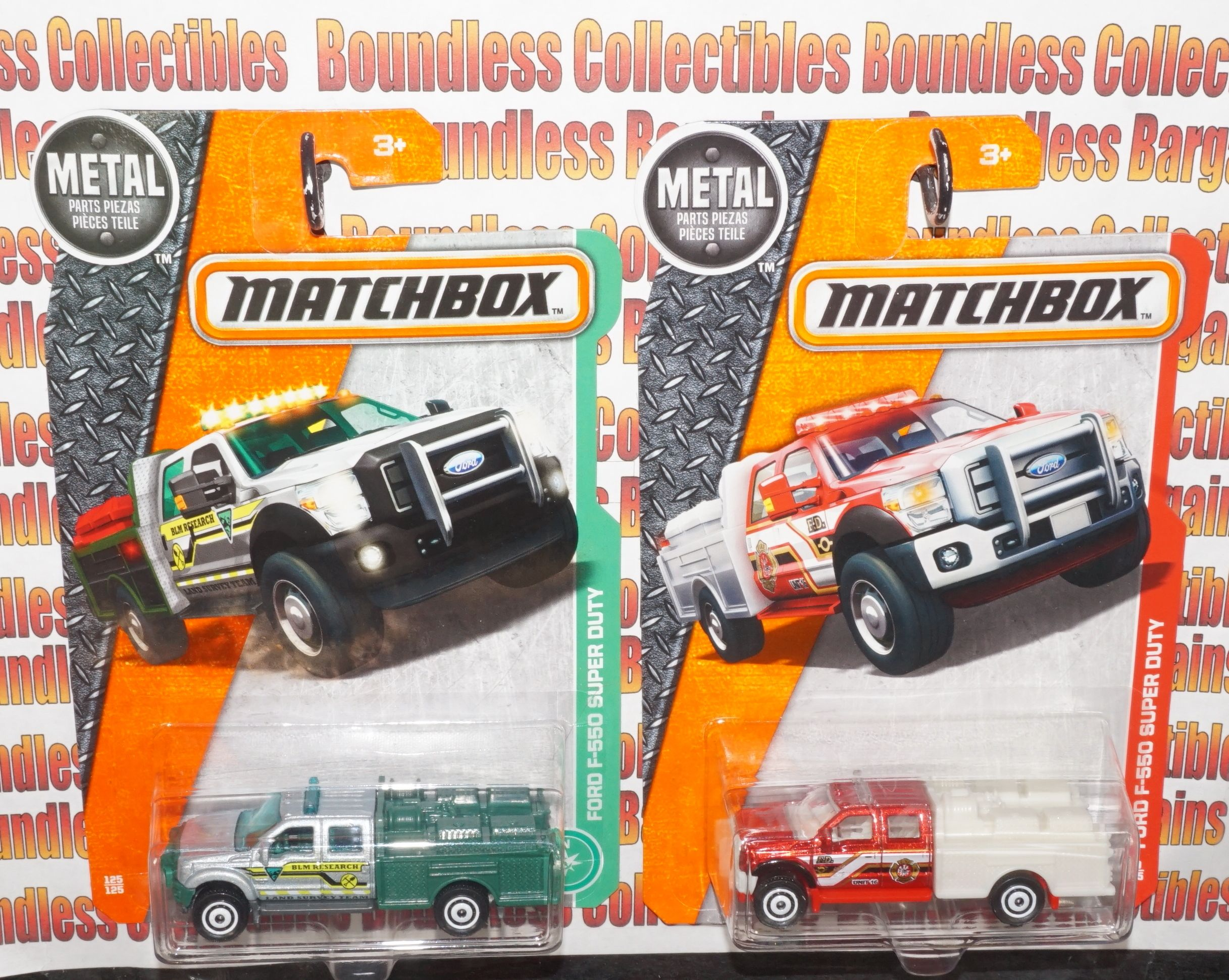 MATCHBOX HEROIC RESCUE VEHICLES FORD F550 SUPER DUTY FIRE TRUCK AND ...
