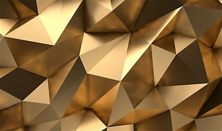 Custom Photo Wallpaper 3d Stereo Abstract Space Golden Geometry Mural Modern Art Creative Living Room Hotel Study Wa Glass Printing 3d Wallpaper Mural Abstract 3d wallpaper maker online free