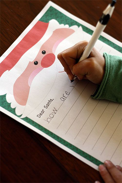 FREE printable Letter to Santa Stationery Alpha Mom Christmas