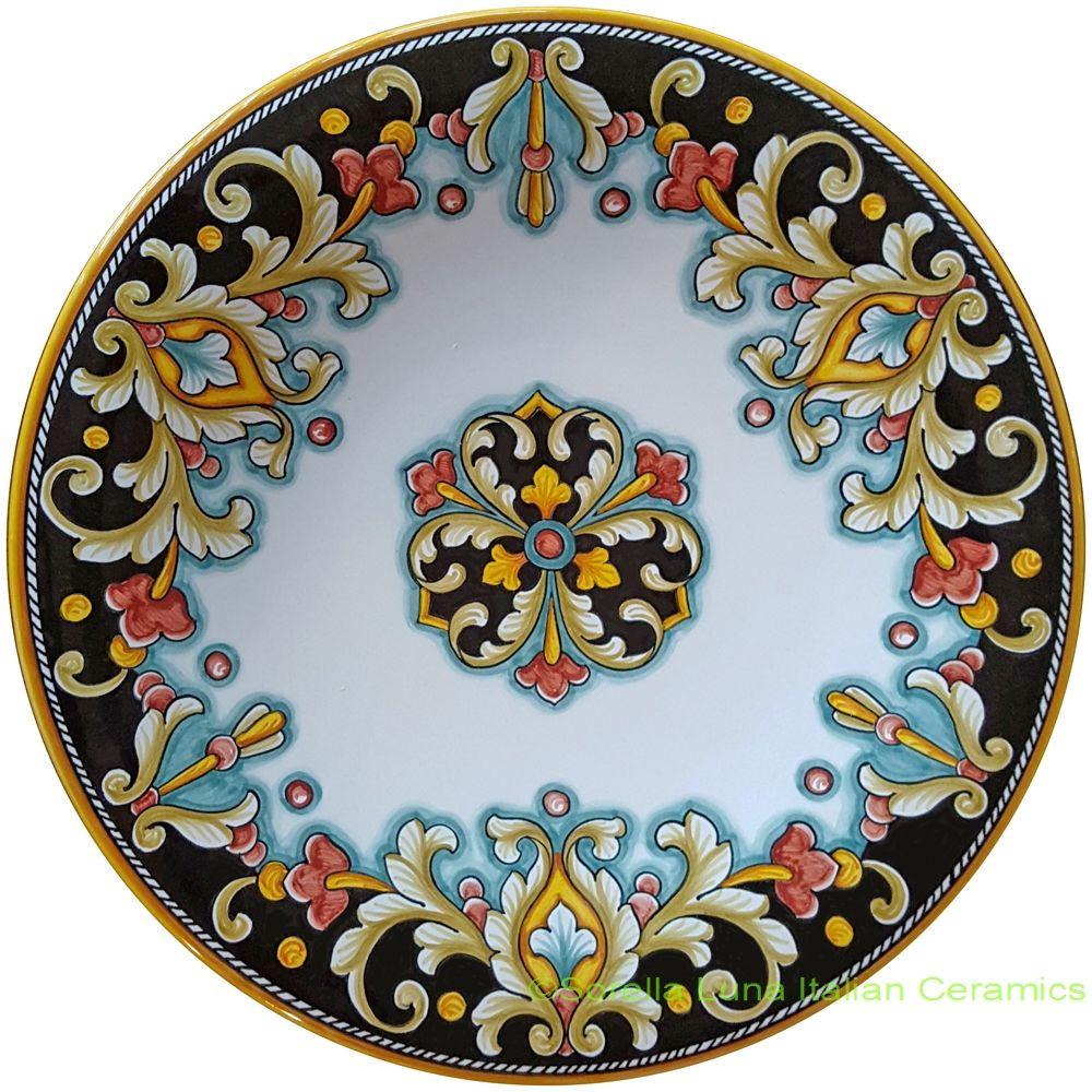 Italian Hand Painted Ceramic Majolica Plate   30cm  sc 1 st  Pinterest & Italian Hand Painted Ceramic Majolica Plate   30cm   צלחות ...