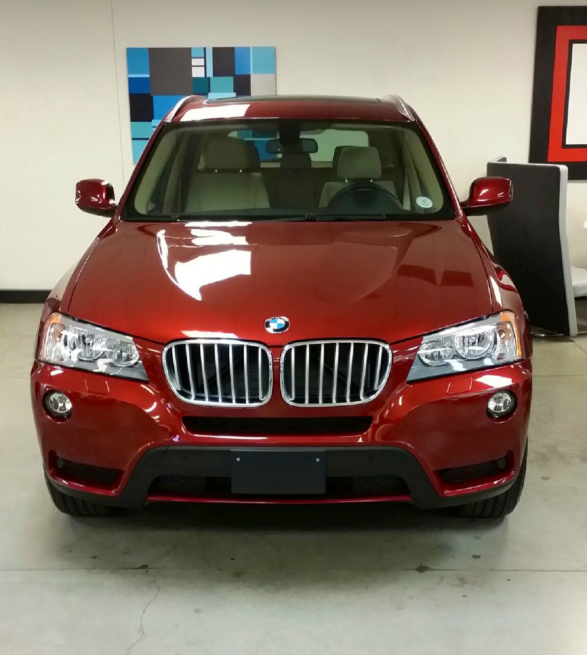 2014 BMW X3 In Vermillion Red