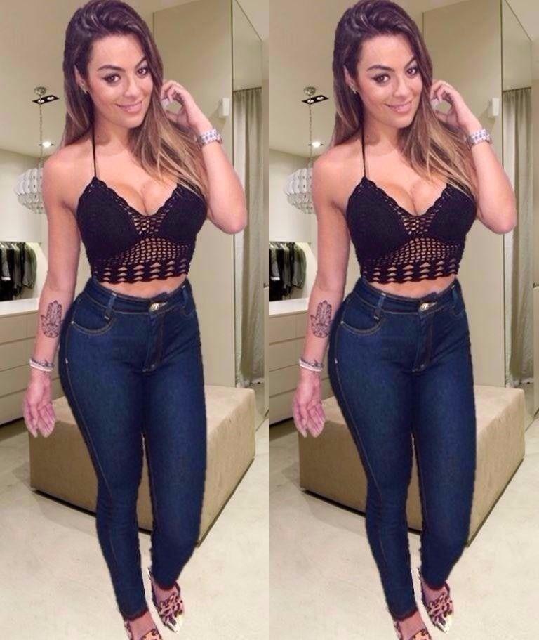 c50d32593 calça jeans cintura alta hot pants disco pant. Instagram: @Débora_ceron