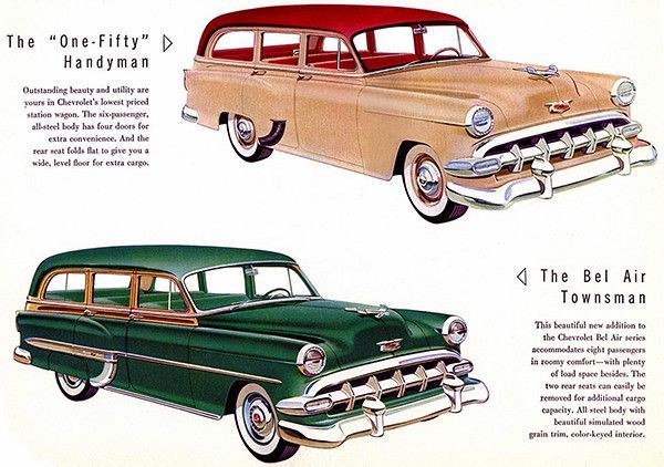 1954 Chevrolet Station Wagon Promotional Advertising Poster