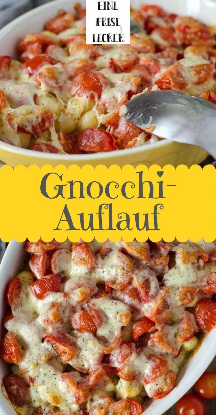 Vegetarischer Gnocchi-Auflauf aus nur 4 Zutaten - Eine Prise Lecker