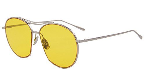91014ca56fc6 Steampunk - MERRYS Women Bang Fashion Summer Sunglasses Eyewear Candy Color  Lens Glasses UV400 S8006 (Sliver&Yellow)