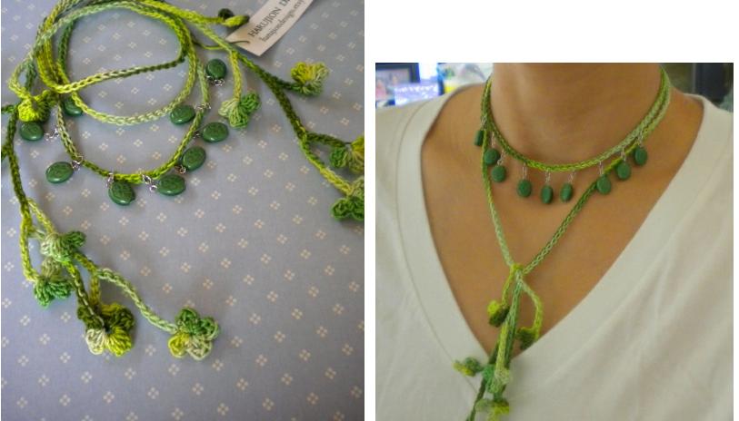 Collar de Crochet con Abalorios - Patrones Crochet | bisuteria ...