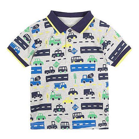 Bluezoo Kids Boys/' Navy Striped Cotton Polo Shirt