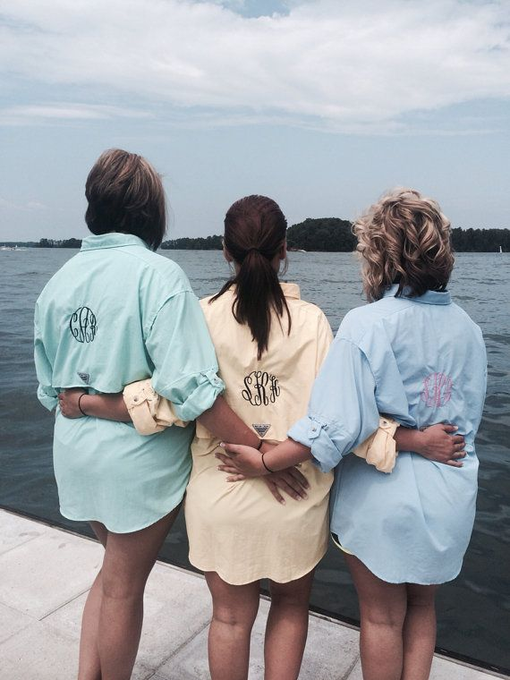 3af3ba24de Monogram Fishing Shirt PFG Columbia by IFlewTheNest on Etsy | Skinny ...