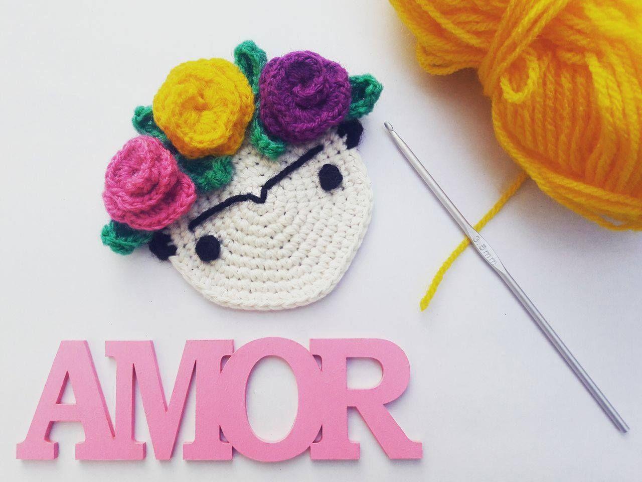 Frida Kahlo a Crochet | Manualidades desde casa, Dulce amor y Hacer ...