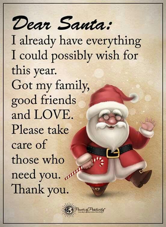 Pin By Andreja Grahek On Greetings Dear Santa Santa Claus Quotes Power Of Positivity