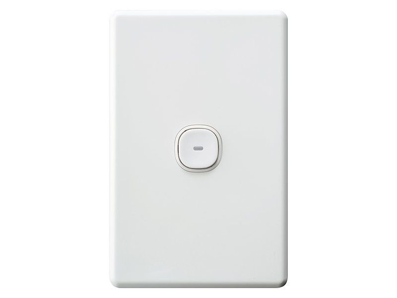 Clipsal Slimline Impress 1 One Gang Single Push Button