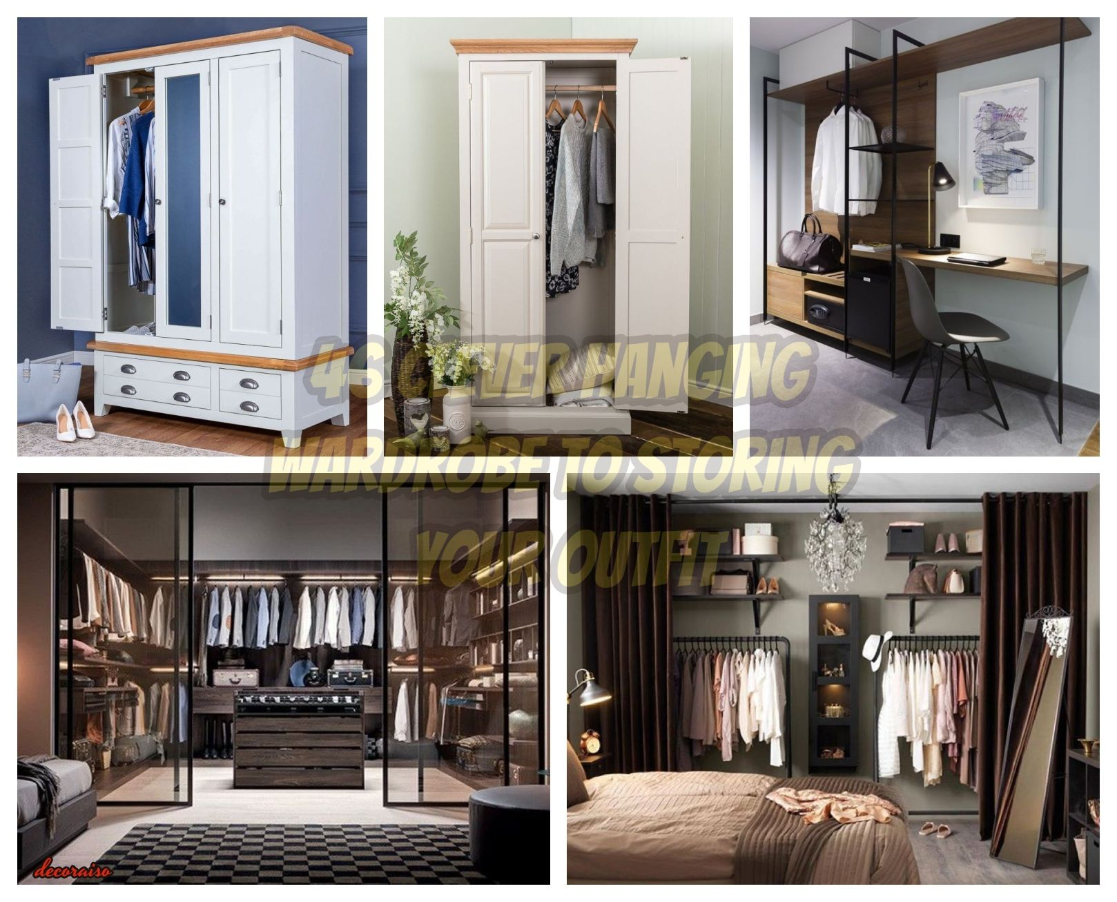 clever hanging wardrobe to storing your outfit furniture ideas