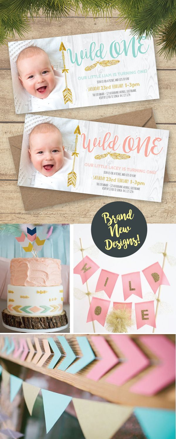 Brand New Wild One Invitations available at wwwpaperdivascomau