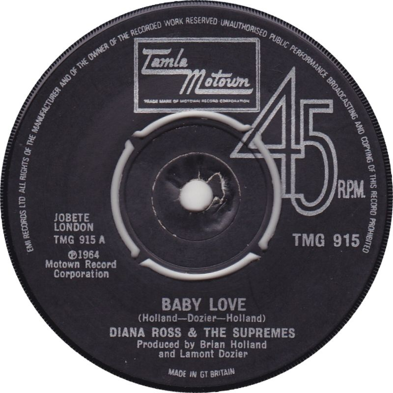 DIANA ROSS AND THE SUPREMES - Baby Love in 2020 | Tamla ...