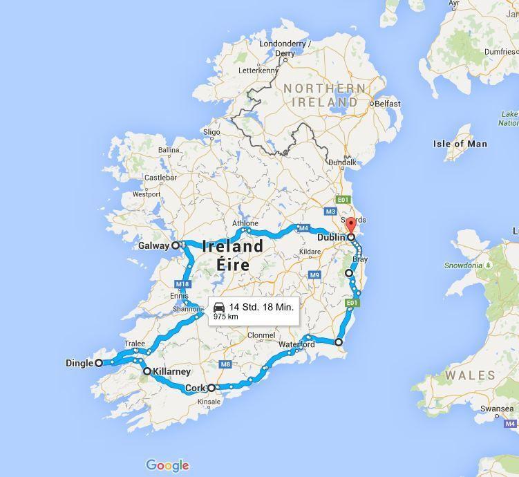 reiseziele irland karte Irland: Meine drei liebsten Reiserouten | Irland reise, Irland